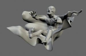 Exemple de disseny directe a 123D sculpt